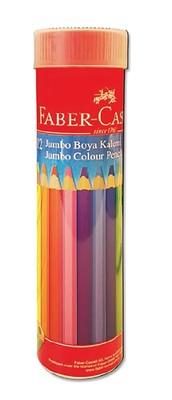 Faber Castell 12 Renk Jumbo Kuru Boya Metal Tüp 951003