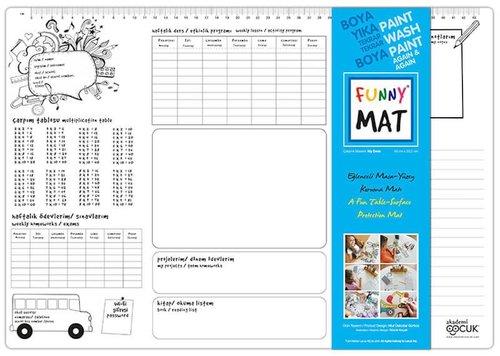 Akademi Çocuk Funny Mat - Çalışma Masam