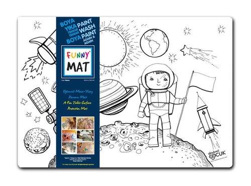 Akademi Çocuk Funny Mat - Uzay