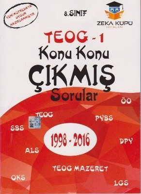 8.Sınıf TEOG 1 Konu Konu Çıkmış Sorular 1998-2016