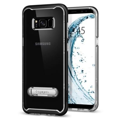 Spigen Galaxy S8 Kılıf Crystal Hybrid - Black