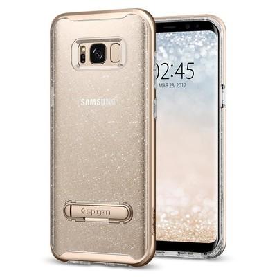 Spigen Galaxy S8 Kılıf Crystal Hybrid Glitter - Gold Quartz