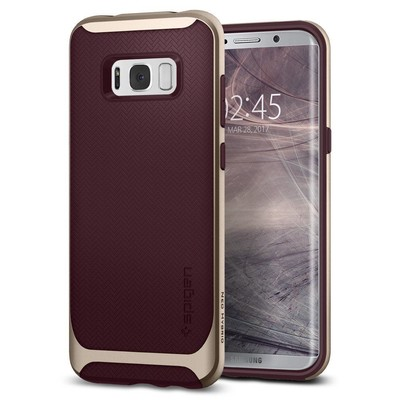 Spigen Galaxy S8 Kılıf Neo Hybrid - Burgundy