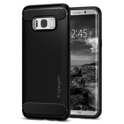 Spigen Galaxy S8 Kılıf Rugged Armor - Black