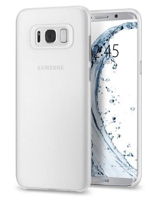 Spigen Galaxy S8 Plus Kılıf Air Skin Ultra İnce 4 Tarafı Tam Koruma - Soft Clear