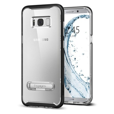 Spigen Galaxy S8 Plus Kılıf Crystal Hybrid - Black