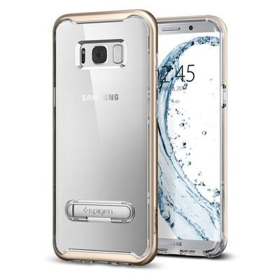 Spigen Galaxy S8 Plus Kılıf Crystal Hybrid - Gold Maple