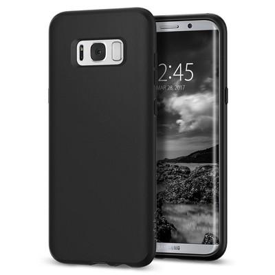 Spigen Galaxy S8 Plus Kılıf Liquid Crystal 4 Tarafı Koruma - Matte Black
