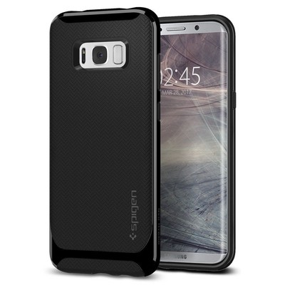 Spigen Galaxy S8 Plus Kılıf Neo Hybrid - Shiny Black