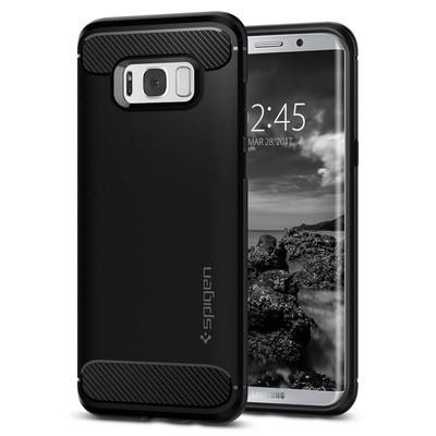 Spigen Galaxy S8 Plus Kılıf Rugged Armor - Black