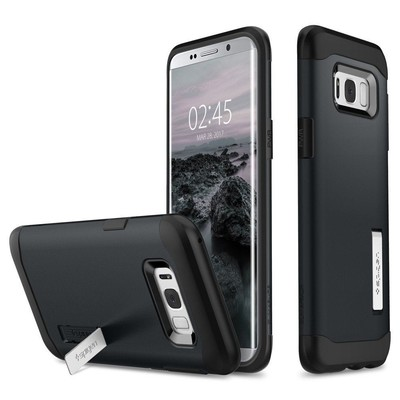 Spigen Galaxy S8 Plus Kılıf Slim Armor - Metal Slate