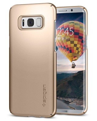 Spigen Galaxy S8 Plus Kılıf Thin Fit - Gold Maple