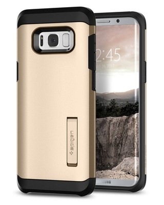 Spigen Galaxy S8 Plus Kılıf Tough Armor - Gold Maple