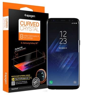 Spigen Galaxy S8 Ekran Koruyucu Curved Crystal HD Kavisli Tam Kaplayan - 2 Adet