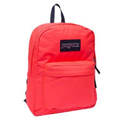 Jansport Black Label Fluorescent Red