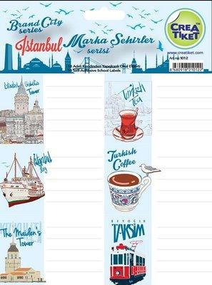 Crea Etiket İstanbul Mavi 1012