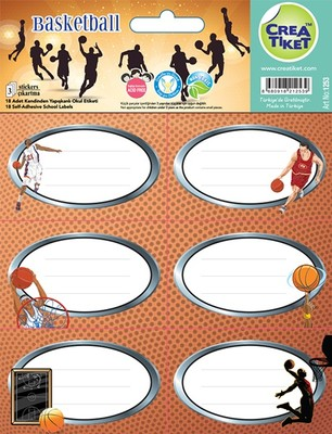 Crea Etiket Basketbol (1253)