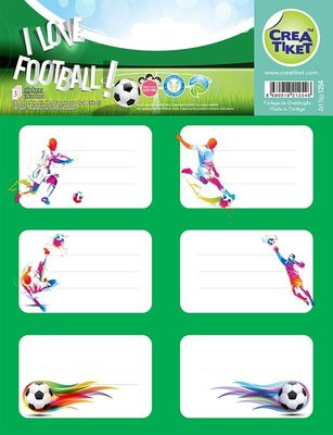 Crea Etiket Futbol 1254