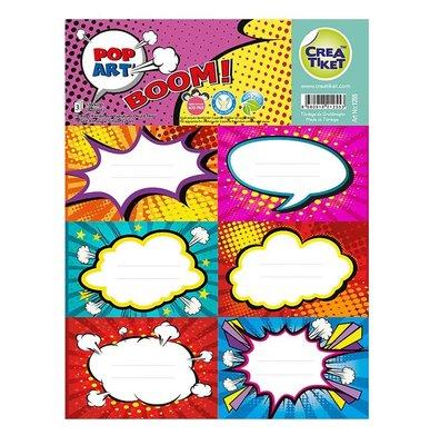 Crea Etiket Pop Art 1255