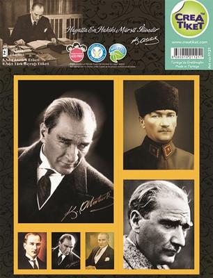 Crea Etiket Atatürk&Bayrak (1121)