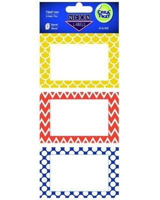 Crea Etiket Neon GeometrikDesen1212