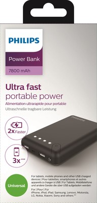 Philips 7800mAh Power bank 2.1A 2 USB  DLP7805U/10