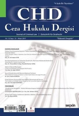 CHD Ceza Hukuku Dergisi Sayı 33 Nisan 2017
