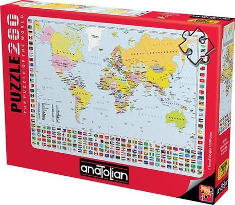 Anatolian Puzzle 260 Parça Dünya Siyasi Harita 3319