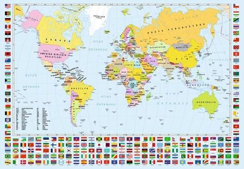 Anatolian 3319 Dünya Siyasi Haritası 260 Parça Puzzle