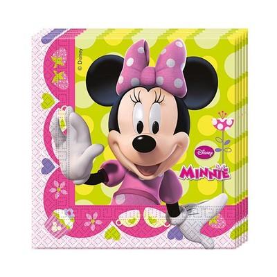 Minnie Kağıt Peçete Pembe Fiyonklu