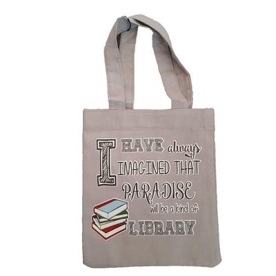 Pix-Kitap Çantası I Have Always Imagıned That Paradise Library Gri