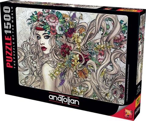 Anatolian Puzzle 1500 Parça Çiçeklerin Gücü 4549