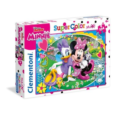 Clementoni- Maxi Minnie Happy Helpers 104 Parça Puzzle 23708