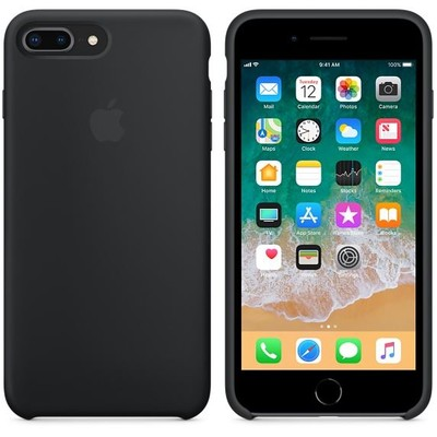 Apple iPhone 8 Plus / 7 Plus Silikon Kılıf, Siyah MQGW2ZM