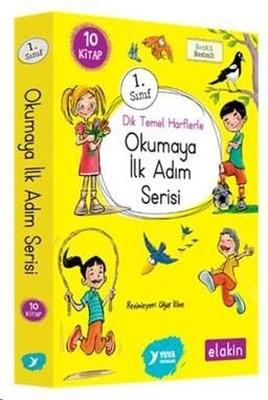 1.Sınıf Dik Temel Harflerle Okumaya İlk Adım Serisi-Yeni Ses Grupları 10 Kitap Takım