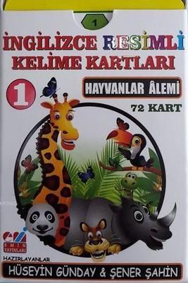 Hayvanlar Alemi-İngilizce Resimli Kelime Kartları 1