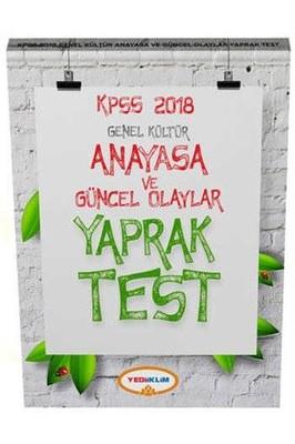 2018 KPSS Genel Kültür Anayasa ve Güncel Olaylar Yaprak Test