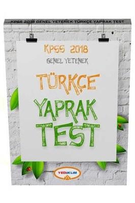 2018 KPSS Genel Yetenek Türkçe Yaprak Test