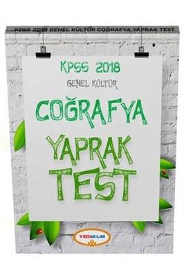 2018 KPSS Genel Kültür Coğrafya Yaprak Test