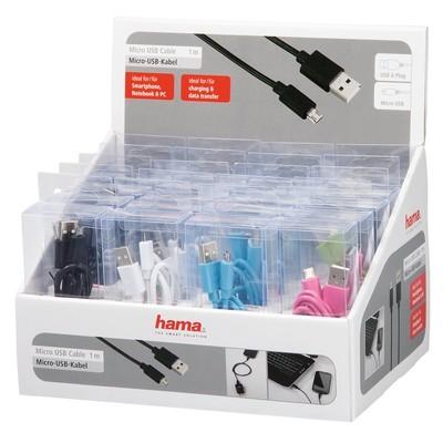 Hama USB 2.0 A HM.12318 Fiş Micro B Fiş Renkli 1m