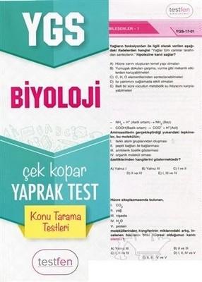YGS Biyoloji Konu Tarama Yaprak Testleri