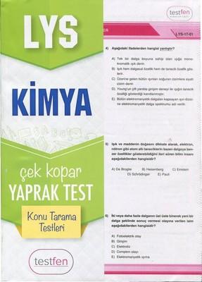 LYS Kimya Konu Tarama Yaprak Testleri