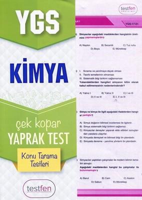 YGS Kimya Konu Tarama Yaprak Testleri