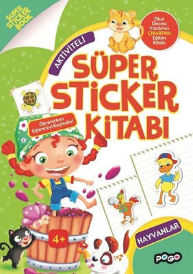 Aktiviteli-Hayvanlar Süper Sticker Kitabı