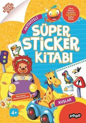 Aktiviteli-Kuşlar Süper Sticker Kitabı