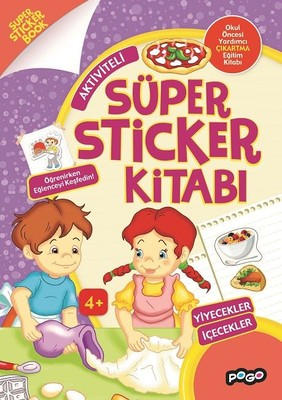 Aktiviteli-Yiyecekler İçecekler Süper Sticker Kitabı