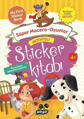 Süper Macera Oyunlar-Aktiviteli Sticker Kitabı
