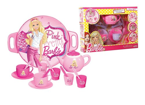 Barbie - Tepsili Çay Set