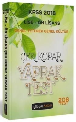 2018 KPSS Lise-Ön Lisans Genel Yetenek Genel Kültür Çek Kopar Yaprak Test