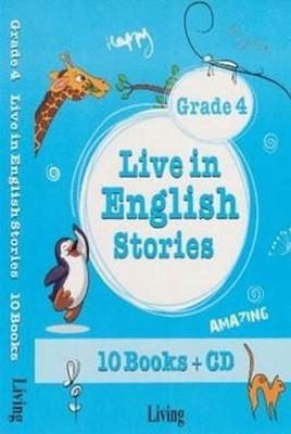Grade 4 Live in English Stories-10 Books CD
